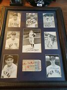 Ny Yankees 1951 World Series 8 Rostered Player Autographs Framed / Ticket Stub