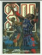 1998-99 Fleer Flair Showcase Legacy Collection Hakeem Olajuwon Ed 81 Of 99 Rare