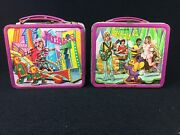 Vintage Sid And Marty Krofft Prod. Bugaloos Metal Lunchboxes 1971 Aladdin Lot Of 2