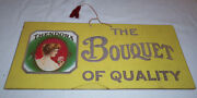Antique Cardboad Sign Thendora Cigars The Bouquet Of Quality - 7x15