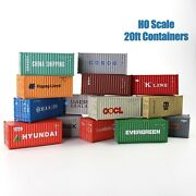 1pc/2pcs/10pcs Ho Scale 187 20ft Shipping Container 20' Cargo Box Model Railway