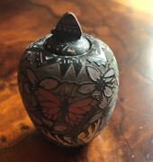 Native American Mike And Jennifer Moquino Pottery - Butterflies And Hummingbirds
