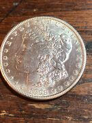 1898-s 1 Morgan Silver Dollar Au/ms Slider Photos Donandrsquot Do This Coin Justice