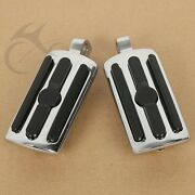 Chrome Universal 10mm Highway Foot Pegs Footrests Fit For Harley Road King Glide