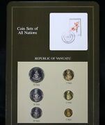 Coin Sets Of All Nations - Republic Of Vanuatu 1983 6 Coins W/stamp