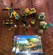 Lego City Custom Jungle Cargo Helicopter 60158 60159 Minifigs Truck Lot