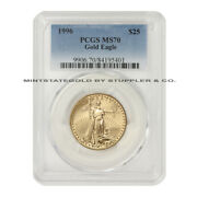 1996 25 Gold Eagle Pcgs Ms70 Graded American Modern Issue Bullion Coin 1/2oz