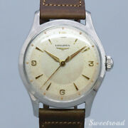 Longines Cal.12.68zs 1950s Manual Hand Wind Authentic Mens Watch Works