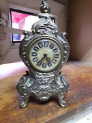 Vintage Mercedes West Germany Mantle Clock Working Condition
