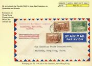 Fam14 China Clipper Trans-pacific 90c To Hong Kong 1940 Airmail Cover Canada
