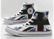 Converse All Star Printed With Flag Blue And Black