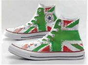 Converse All Star Printed With Flag Green And Red