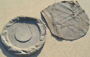 1950s Ford Spare Tire And Door Cover Original Cloth 1956 1957 1958 1959 1960s