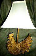 Wooden Style Chicken Hen Rooster Country Style Table Lamp No Shade - Beige Resin