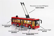 1/36 Electric Trolley Bus Car Model Red Diecast Tram Vehicle Toy Collectible