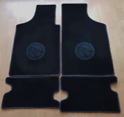 Floor Mats For Matra 530 Velours Black And Logo In Dark Gray 4-pieces