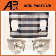 13 Front Grill Grille With Headlights Headlamps For Massey Ferguson 135 Tractor