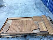 Solid Teak Wood For Boat With Bertram Emblem Logo And Other Teak Pieces