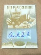 Andrew Luck 2015 Panini Certified Gold Team Signatures Autograph Auto Card /25