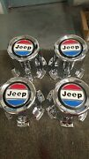 Nos Jeep Grand Wagoneer Wheel Center Caps - Very Limited -1980-91 Rare