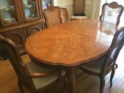 Drexel Dinning Table Chairs And China Cabinet