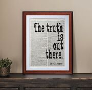 The X Files Quote Dictionary Page Art Print Gift Literary Book Quotes