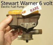 Stewart Warner Electric Fuel Pump Antique Old Classic 1930and039s 1940and039s Yellow Lid