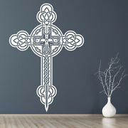 Celtic Cross Christianity Wall Decal Sticker Ws-18385