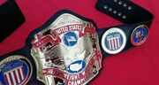 Nwa United States Belt In 4mm Zinc And Original 24kt Gold Plating And Floppy Leather