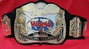 Wwf Tag Team Dual Replica Belt In 4mm Zinc 24kt Gold Plating And Floppy Leather