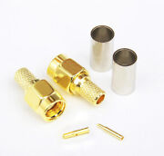 Rp-sma Female Sma Female Crimp Rf Connector For Coaxial Rg58/rg142/lmr195 Cables