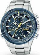Citizen Menand039s Blue Angels Chronograph Date Blue Dial Steel Watch At8020-54l