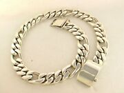 Heavy Taxco Mexican 925 Sterling Silver Figaro Chain Necklace. 581g 59cm 23