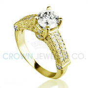 Bridal Diamond Ring F Si 2 Ct Enhanced Accented Solitaire Size 5 6 7