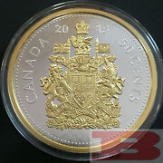 5 Oz. Fine Silver Gold-plated Coin Andndash 2015 Big Coin Series 50-cent Coin Canada