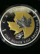 2013 Canada 5 Oz Coin 50 25th Anniversary Of The Silver Maple Leaf