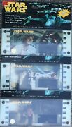 3 Star Wars Limited Edition 70mm Film Frames Featuring Han, Luke And Vader