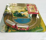 Mystery Alpine Express 250 Automatic Toy Co. Vintage Tin Train Set 1950and039s