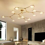 Hanging Lights Chandeliers Frosted Glass Home Ceiling Fixtures Modern Style Lamp