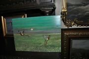 Lovely Old Flying Pheasant Painting On Board