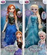 Disney Store Exclusive Authentic Frozen Anna And Elsa 16 Singing Dolls New Nrfb