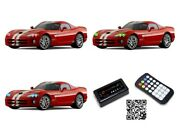 For Dodge Viper 03-10 Rgb Multi Color Bluetooth Led Halo Kit For Headlights