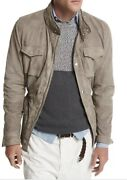 Brunello Cucinelli Suede Safari Jacket Taupe Gray Sz Xxl Sold Out Retail 5795