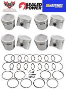 Buick 455 V8 Sealed Power Pistons 8 With Hastings Rings 1970 - 1976