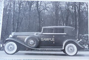 1933 Auburn V-12 4 Door Convertible 12 X 8 Black And White Picture