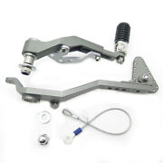 Foot Brake Lever W/ Gear Shift Lever Pedal For Bmw R1200gs Lc/adv 14-16 Gray