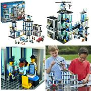 Lego City Police Station 60141 Building Kit With Cop Car Jail Cell And...