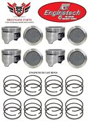 Olds Oldsmobile 403 V8 Enginetech Pistons With Cast Rings 1977 - 1979