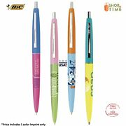 Promotional Bic Clic Pen Printed W/ Company Information / Logo / Text - 300 Qty