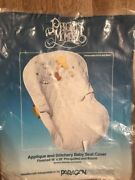 Precious Moments Paragon Needlecraft Applique And Stitchery Baby Seat Cover Kit
